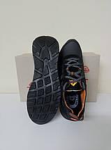 Чёрные мужские кроссовки , натуральная кожа ТМ EXTREM., фото 2