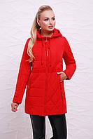 Куртка 17-757 красная женская куртка на весну-осень