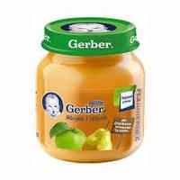 Гербер пюре яблуко, груша 130г new