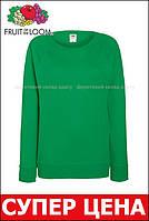 Женский лёгкий свитшот Ярко-зелёный Fruit Of The Loom 62-146-47 Xs