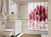 """Фото Шторка для ванной """"Лепестки роз"""""""