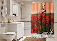 """Фото Шторка для ванной """"Чудесные маки"""""""