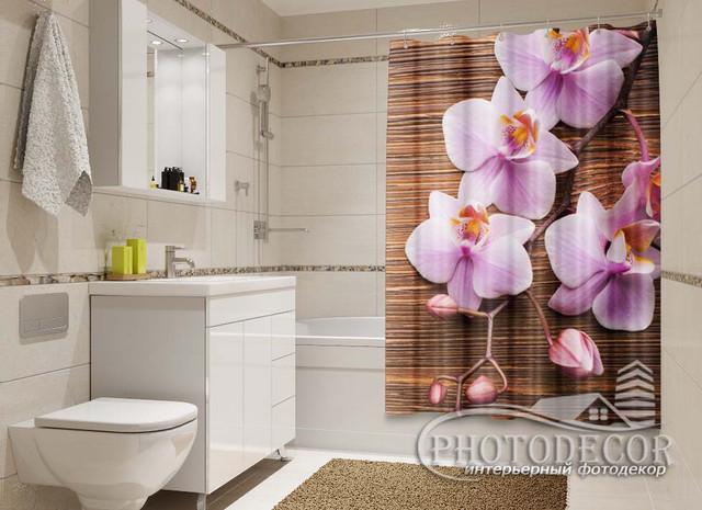 3D Фото Шторки для ванной комнаты