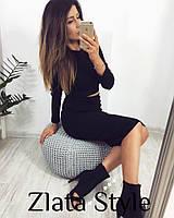 Женский стильный костюм юбка + топ - Модель 1038 - зр