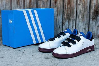 Мужские кроссовки Adidas Raf Simons Stan Smith (Адидас Раф Симонс Стэн Смит) черно-белые