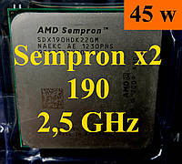 Процессоры (б/у) AMD Sempron X2 190, 2,5ГГц, sAM3, Tray     180 Athlon 215 220 240