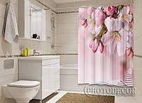 """Фото Шторка для ванной """"Веточка весны"""""""