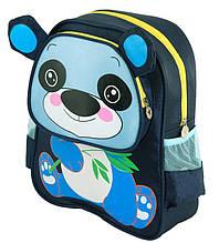 """Детский рюкзак """"Панда"""" TRAUM 7005-32 голубого цвета, на молнии. Обьем 7л."""