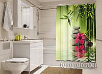 """Фото Шторка для ванной """"Листья бамбука"""""""