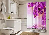 """Фото Шторка для ванной """"Малиновая нежность"""""""