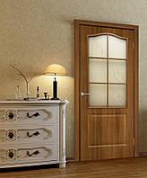 Двери межкомнатные со стеклом ПВХ Классика СС+КР ольха европейская, фото 1