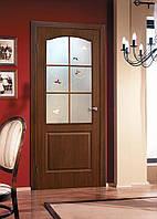 Двери межкомнатные со стеклом ПВХ Классика СС+КР орех