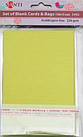 Заготовки для открыток 952242 10х15см оливковый перламутр Santi