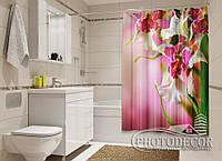"""Фото Шторка для ванной """"Пестрые орхидеи"""""""
