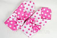 Конверт - одеяло демисезонный Розовые звезды 80 х 85см розовый, фото 1