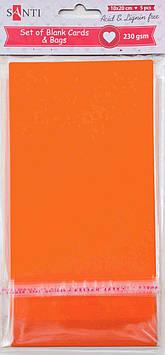 Заготовки для открыток 952294 10х20см оранжевый Santi