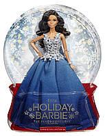 Кукла Барби Праздничная 2016 в синем наряде Коллекционная кукла Barbie 2016 Holiday Doll DGX99
