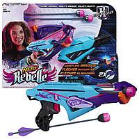 Арбалет с двумя свистящими стрелами Nerf Rebelle Courage Crossbow! Hasbro!
