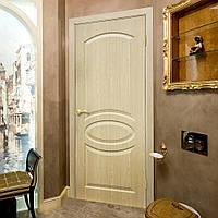 Двери межкомнатные без стекла ПВХ Лика дуб меланж