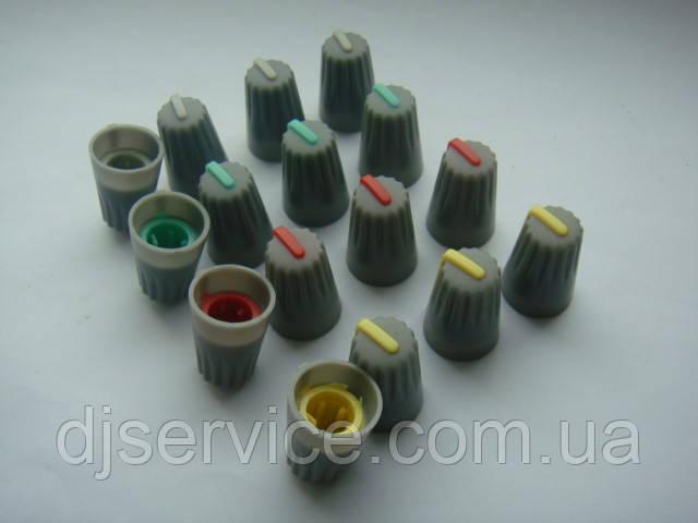Ручка потенциометра 19x14mm пульта Phonic, Muzon (цветная)