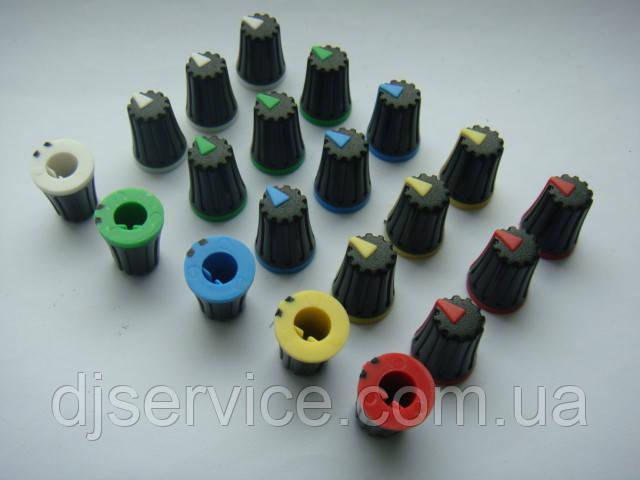 Ручка потенциометра пульта Yamaha MGP16x, Phonic, Muzon (цветная)