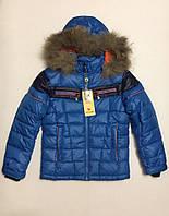 Зимняя куртка для мальчиков на 128-164см