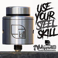 Дрип-атомайзер VapersMD and Twisted Messes Skill RDA (обновлённая версия) - стальной