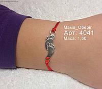 Красная нить серебряная браслет оберег Мама 4041