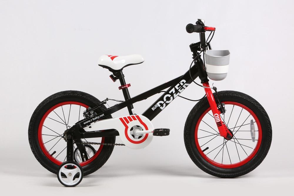 """Детский велосипед ROYAL BABY BULLDOZER 16""""   Черный/белый"""