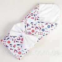 Хлопковое конверт - одеяло демисезонное Мой морячок 80 х 85см (048), фото 1