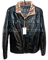 Мужская зимняя куртка из кожзама на меху (48-60) — оптом в одессе 7км