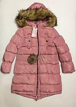 Пальто для девочек 4-12 лет