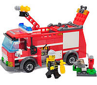 Детский конструктор KAZI 8054  Пожарная машина, 206 дет.