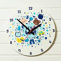 """Детские настенные часы - """"Это Мальчик""""  (на пластике)"""