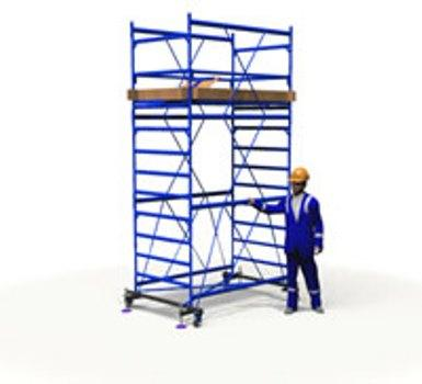 Вышка тура ПСРВ настил 1.7х0.8м (2+1) рабочая высота 4,8м