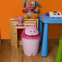 Ведро мусорное для детской комнаты Хрюша 10 литров Curver
