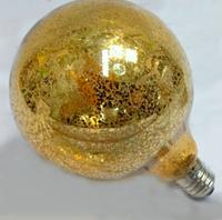 Дизайнерская светодиодная лампа 8Вт G95-8S8W Е27 золото, фото 1