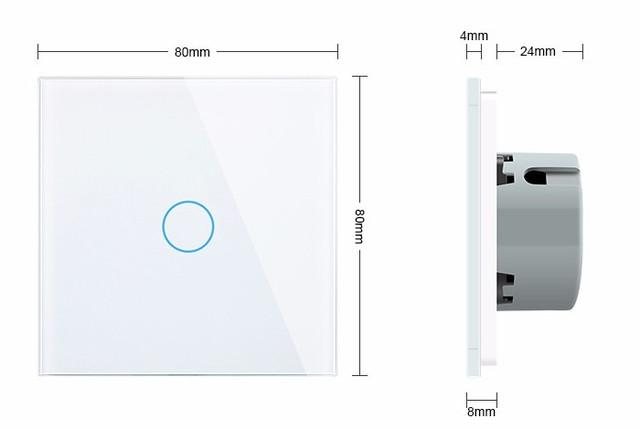 Сенсорный выключатель Livolo, дерево вишни (VL-C701-21)