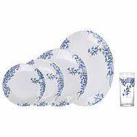 """Сервиз столовый стекло 19 + 6 предметов """"Luminarc.Arcopal Aliya blue"""" 38076 / L5296"""