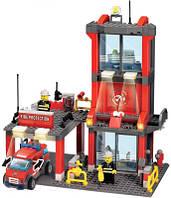 Детский конструктор KAZI 8052 Пожарная станция, 300 дет., фото 1