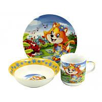 Набор детской посуды Лисеня арт С043