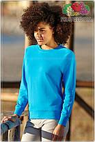 Женский приталенный легкий свитшот без начеса 62-146-0, фото 2