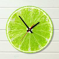 """Часы настенные на кухню - """"Лайм"""" (на пластике)"""