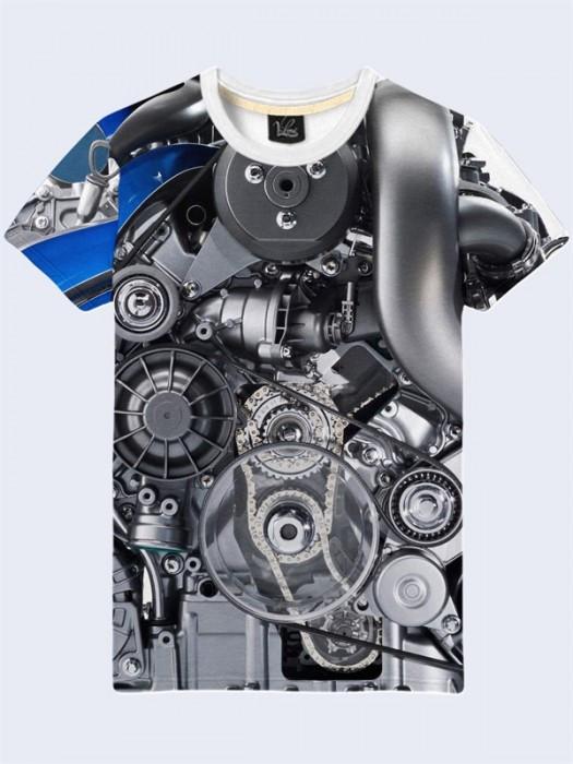 Футболка Двигатель Мерседеса