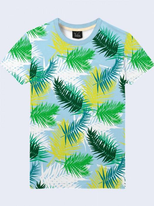 Футболка Цветные Листья Пальмы