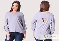 Стильная женская блузка, сзади декорирована молнией, фото 1