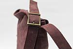 Кожаная сумка VS133  burgundy 26х22х4 см, фото 3