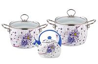 Набор эмалированной посуды 5 предметов (4.4л, 5.5л, 2.5л) Kamille 5900В