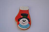 Пряник имбирно-медовый новогодний - Снеговик