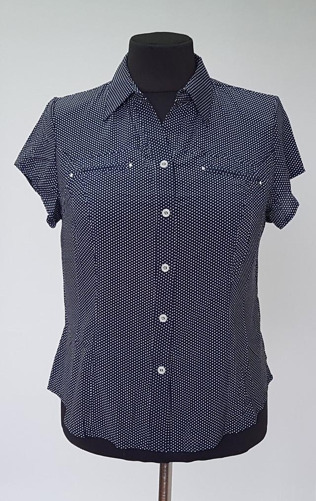 блузка летняя в мелкий горошек